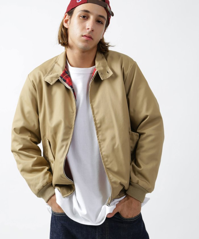 Uniform World Harrington Jacket: Beige