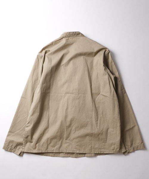 Engineered Garments Dayton Shirt - High Count Twill EF154: Khaki