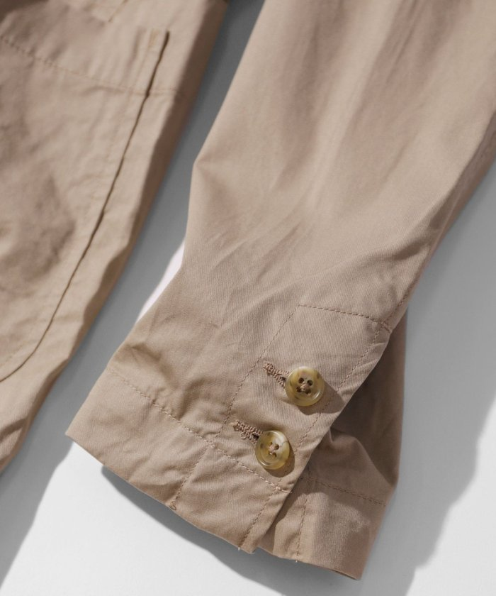 Engineered Garments NB Jacket - High Count Twill GH237: Khaki